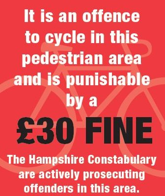Action to Curb Cycling on the Pavements