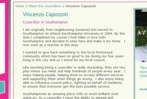 Fame At Last – Portswood Councillor Vincenzo Capozzoli says why he became a Councillor