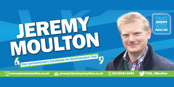 Jeremy Moulton Parliamentary Candidate for Southampton Test
