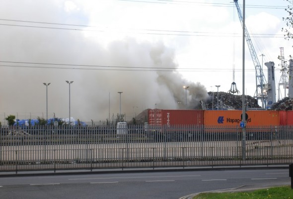 Fire In The Western Docks