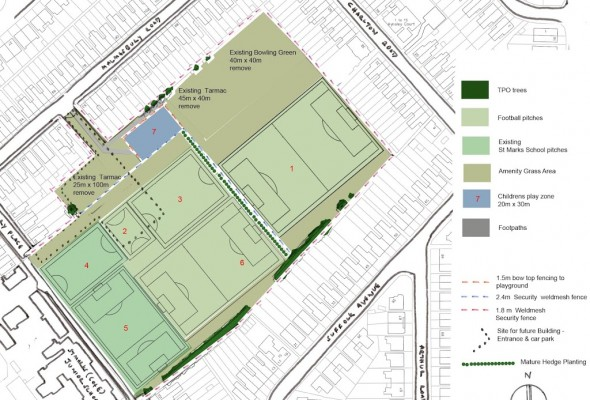 Plans for the Civil Service Sports Ground